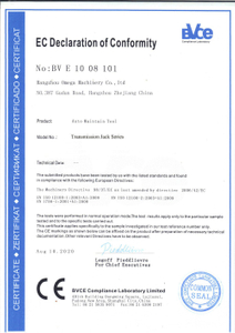 Hydraulic transmission jack CE certificate