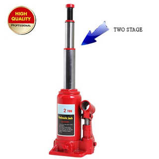 Two stage hydraulic bottle jack 2ton
