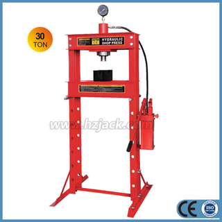 Hydraulic 30 Ton Shop Press With Gauge