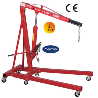 Pneumatic/hydraulic 2 ton folding Shop Crane