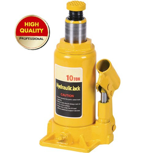 Yellow hydraulic bottle jack 10 ton