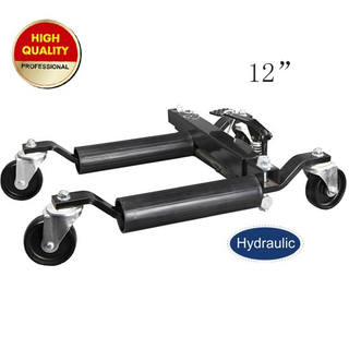 hydraulic vehicle positioning jack