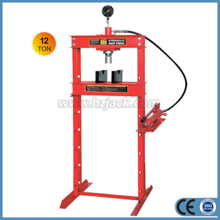 12 Ton Hydraulic Shop Press With Gauge