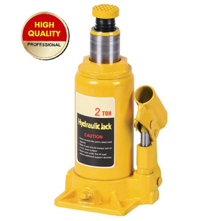 Yellow hydraulic bottle jack 2ton