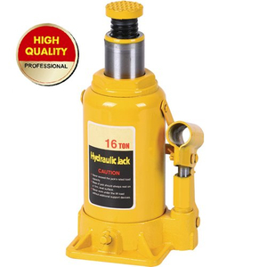 Yellow hydraulic bottle jack 16ton