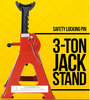 Car Ratchet 3 Ton Jack Stand with Safety Pin