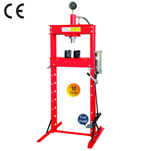 12 ton shop press with foot pump